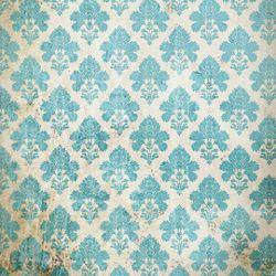Click Props Background Vinyl with Print Damask Distressed Blue 1,52x1,52m studijska foto pozadina s grafikom