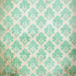 Click Props Background Vinyl with Print Damask Distressed Greem 1,52x1,52m studijska foto pozadina s grafikom