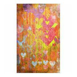Click Props Background Vinyl with Print Hearts Yellow 1.52x2.44m studijska foto pozadina s grafikom