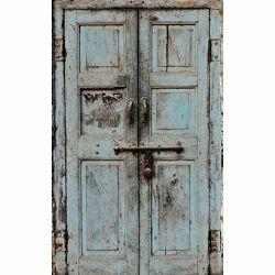 Click Props Background Vinyl with Print Wooden Door Blue 1.52x2.44m studijska foto pozadina s grafikom