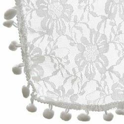 Click Props Newborn Bobble Lace Wrap White BLWSW 50x70cm foto pribor za fotografiju beba