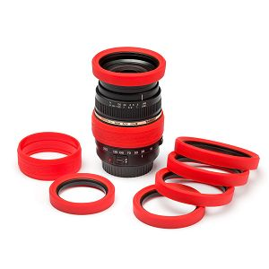 Discovered Easy Cover Lens Rims 58mm crveni zaštitni gumeni prsten za objektive (ECLR58R)