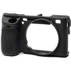 Discovered Easy Cover za Sony A6500 Black + 2x LCD folija crno gumeno zaštitno kućište camera case ((ECSA6500B)