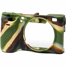Discovered Easy Cover za Sony A6500 Camouflage + 2x LCD folija kamuflažno gumeno zaštitno kućište camera case (ECSA6500C)