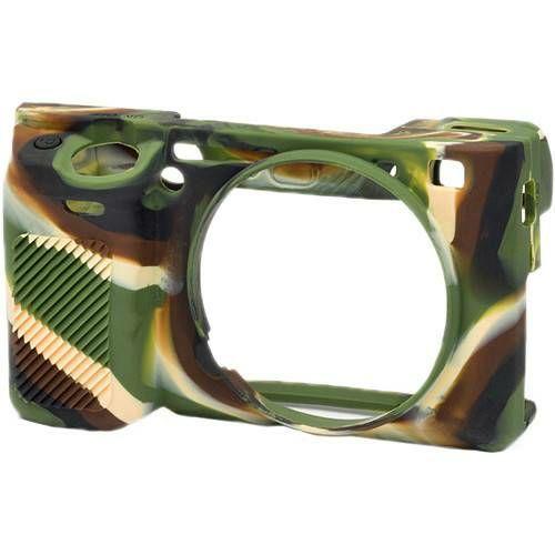 Discovered easyCover za Sony Alpha a6400, a6300, a6000 Camouflage kamuflažno gumeno zaštitno kućište camera case (ECSA6300C)