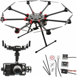DJI Spreading Wings S1000+ & WKM & Z15 Zenmuse BMPCC (Blackmagic Pocket Cinema Camera) Gimbal Combo Professional Aircraft multi-rotor Octocopter dron WooKong-M Flight Control System Gyroscope