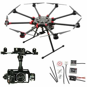 DJI Spreading Wings S1000+ & WKM & Z15 Zenmuse N7 Gimbal Combo Professional Aircraft multi-rotor Octocopter dron WooKong-M Flight Control System Sony NEX-N7 Gyroscope