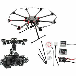 DJI Spreading Wings S1000+ & WKM & Z15 Zenmuse A7 Gimbal Combo Professional Aircraft multi-rotor Octocopter dron WooKong-M Flight Control System Sony a7S / a7R Gyroscope