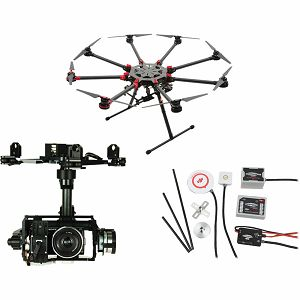 DJI Spreading Wings S1000+ & WKM & Z15 Zenmuse N5N Gimbal Combo Professional Aircraft multi-rotor Octocopter dron WooKong-M Flight Control System Sony NEX-5N Gyroscope