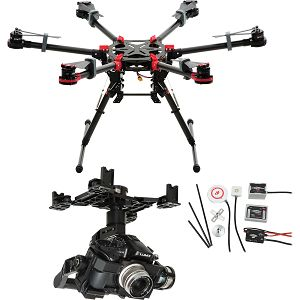 DJI Spreading Wings S900 + WKM + Z15 Zenmuse GH4 Gimbal Combo dron Professional Aircraft multi-rotor Hexacopter WooKong-M Flight Control System Panasonic GH4/GH3 Gyroscope