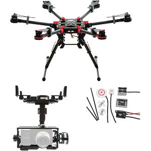 DJI Spreading Wings S900 + WKM + Z15 Zenmuse BMPCC ( Blackmagic Pocket Cinema Camera) Gimbal Combo dron Professional Aircraft multi-rotor Hexacopter WooKong-M Flight Control System Gyroscope