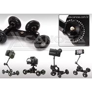Dolly cam skater klizni stabilizator video DSLR 4 rote