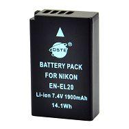 DSTE zamijenska baterija EN-EL20 za Nikon 1 J1 ENEL20 Li-Ion 7.4V 1400mAh DSTBNK018