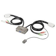 Edimax KVM USB switch audio kab 3port