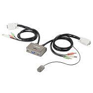 Edimax KVM USB switch audio kab 3port