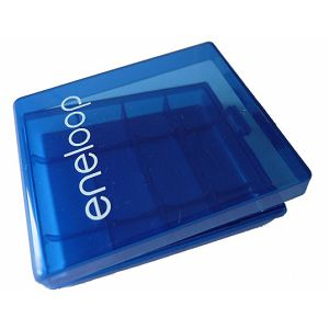 Eneloop Kutijica za baterije, plastična, plava, za 4 AA ili AAA baterije