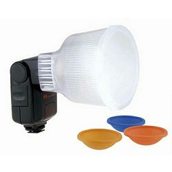 Falcon Eyes D1 Lightsphere Diffuser Cup Color Filters difuzor omekšivač svijetla za bljeskalicu Nikon SB600, SB800, SB-600, SB-800