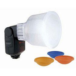 Falcon Eyes D2 Lightsphere Diffuser Cup Color Filters difuzor omekšivač svijetla za bljeskalicu Canon 430EX, Sony F32x, FE DPT-386