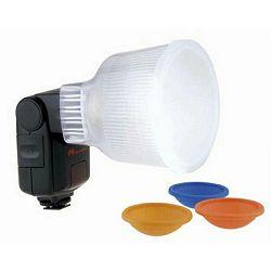 Falcon Eyes D4 Lightsphere Diffuser Cup Color Filters difuzor omekšivač svijetla za bljeskalicu Canon 580EX, 580EX II, 550EX, Metz 48AF, 50AF, 58AF