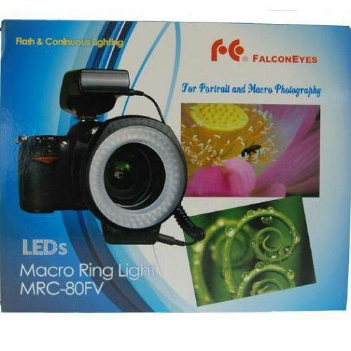 Falcon Eyes MRC-80FV LED Ring Lamp with Flash macro bljeskalica