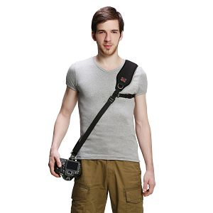 FotoSpeed F1 Black Kingkong + Air-Cell shoulder pad strap remen za nošenje DSLR fotoaparata s arca swiss brzo-skidajućom pločicom