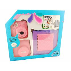 Fuji Instax Mini 9 KIT Flamingo Pink rozi (fotoaparat + album + 1x10 film papiri + futrola)
