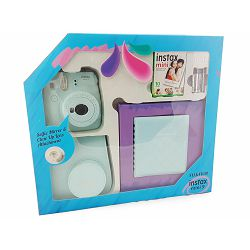 Fuji Instax Mini 9 KIT Ice Blue ledeno plava (fotoaparat + album + 1x10 film papiri + futrola)