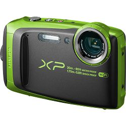 Fujifilm FinePix XP120 Lime Black Fuji XP-120 zeleno crni vodootporni podvodni digitalni fotoaparat WiFi remote 5x zoom 16.4Mpx 28mm BSI-CMOS sensor Digital camera