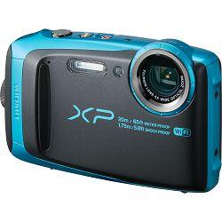 Fujifilm FinePix XP120 Sky Blue Black Fuji XP-120 nebesko plavi crni vodootporni podvodni digitalni fotoaparat WiFi remote 5x zoom 16.4Mpx 28mm BSI-CMOS sensor Digital camera