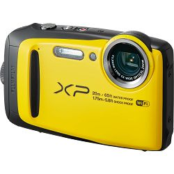 Fujifilm FinePix XP120 Yellow Fuji XP-120 žuti vodootporni podvodni digitalni fotoaparat WiFi remote 5x zoom 16.4Mpx 28mm BSI-CMOS sensor Digital camera