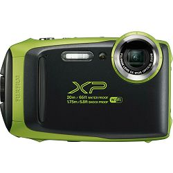 Fujifilm FinePix XP130 Lime Green Fuji XP-130 zeleni vodootporni podvodni digitalni fotoaparat 20m WiFi FullHD 5x zoom 10fps 16.4Mpx 28-140mm Smart FSI CMOS senzor Digital camera