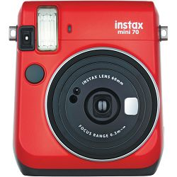 Fujifilm Instax mini 70 Instant Film Camera (Red) Crveni Fuji polaroidni fotoaparat s trenutnim ispisom fotografije