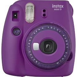 Fujifilm Instax Mini 9 Clear purple ljubičasti polaroid Fuji fotoaparat s trenutnim ispisom fotografije + Fujinon 60mm f/12.7 objektiv