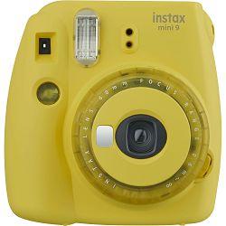 Fujifilm Instax Mini 9 Clear yellow žuti polaroid Fuji fotoaparat s trenutnim ispisom fotografije + Fujinon 60mm f/12.7 objektiv