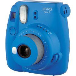 Fujifilm Instax Mini 9 Cobalt Blue plavi polaroid Fuji fotoaparat s trenutnim ispisom fotografije + Fujinon 60mm f/12.7 objektiv