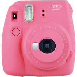 Fujifilm Instax Mini 9 Flamingo Pink rozi polaroid Fuji fotoaparat s trenutnim ispisom fotografije + Fujinon 60mm f/12.7 objektiv