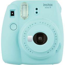 Fujifilm Instax Mini 9 Ice Blue svijetlo plavi polaroid Fuji fotoaparat s trenutnim ispisom fotografije + Fujinon 60mm f/12.7 objektiv