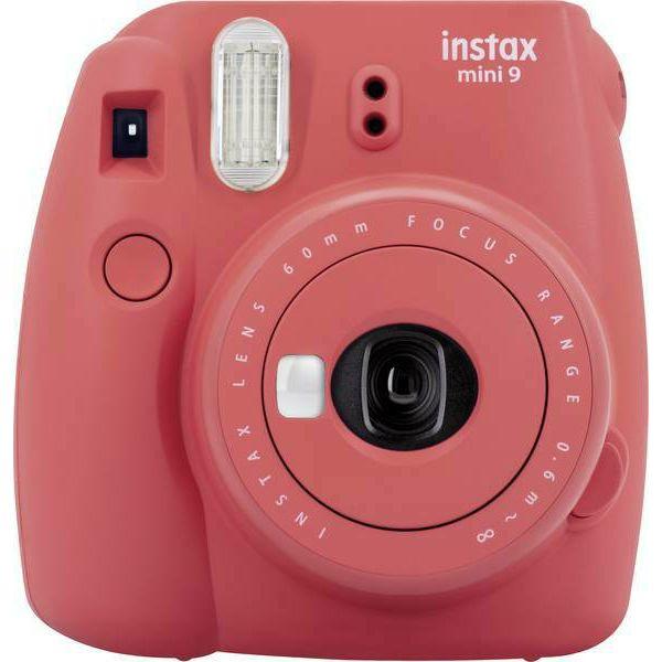 Fujifilm Instax Mini 9 Poppy-red crveni polaroid Fuji fotoaparat s trenutnim ispisom fotografije + Fujinon 60mm f/12.7 objektiv