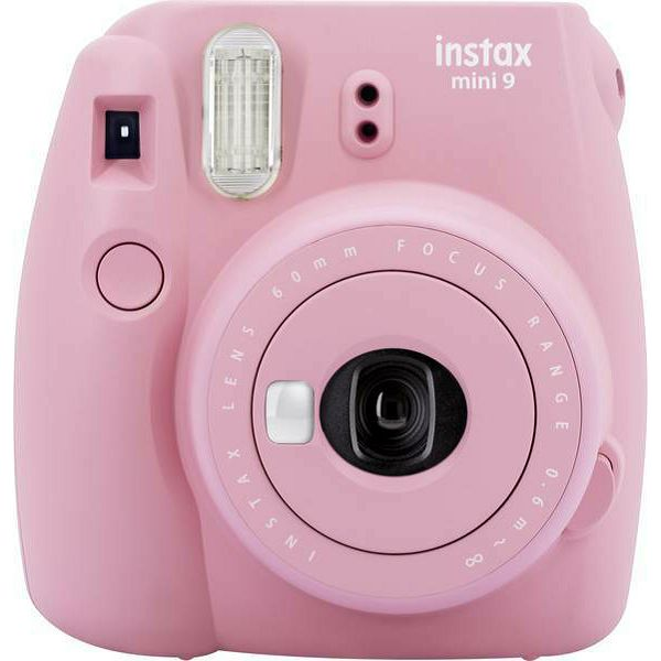 Fujifilm Instax Mini 9 Blush Rose rozi polaroid Fuji fotoaparat s trenutnim ispisom fotografije + Fujinon 60mm f/12.7 objektiv
