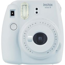 Fujifilm Instax Mini 9 Smoky White bijeli polaroid Fuji fotoaparat s trenutnim ispisom fotografije + Fujinon 60mm f/12.7 objektiv