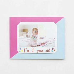 Fujifilm MSG Photo message card for Fuji Instax WIDE Light Blue Pink karta za fotografije svijetlo plava i roza