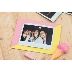 Fujifilm MSG Photo message card for Fuji Instax WIDE Pink Yellow karta za fotografije roza žuta