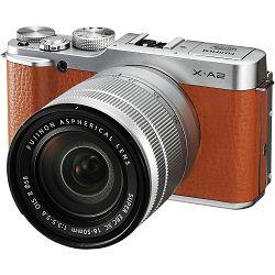 Fujifilm X-A2 + XC 16-50 II f3.5-5.6 brown Fuji 16-50mm digitalni fotoaparat