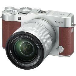 Fujifilm X-A3 + XC 16-50 OIS II f3.5-5.6 Brown Smeđi Fuji 16-50mm digitalni fotoaparat