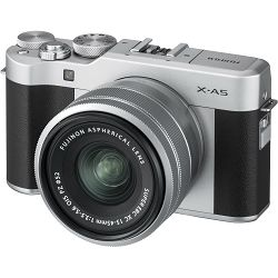 Fujifilm X-A5 + XC 15-45mm f/3.5-5.6 OIS PZ KIT Silver srebreni digitalni fotoaparat s objektivom 15-45 XC15-45 Fuji Finepix Mirrorless Digital Camera