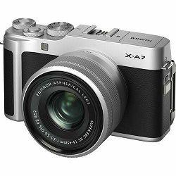 Fujifilm X-A7 + XC 15-45mm f/3.5-5.6 OIS PZ Silver Srebreni Fuji digitalni mirrorless fotoaparat s objektivom (16638201)