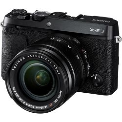 Fujifilm X-E3 + XF 18-55 EE KIT Black crni Digitalni fotoaparat s objektivom XF18-55mm Mirrorless camera Fuji Finepix XE3