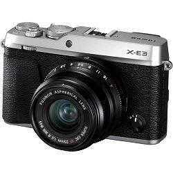 Fujifilm X-E3 + XF 23mm f/2 WR EE KIT Silver srebreni Digitalni fotoaparat s objektivom XF23mm F2 Mirrorless camera Fuji Finepix XE3