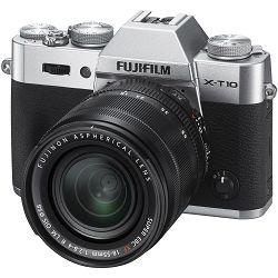 Fujifilm X-T10 18-55mm Silver srebreni Mirrorless Digital Camera Fuji with 18-55 Lens