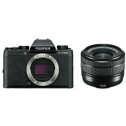 Fujifilm X-T100 + XC 15-45 f/3.5-5.6 OIS PZ KIT Black crni digitalni mirrorless fotoaparat s objektivom 15-45mm Fuji